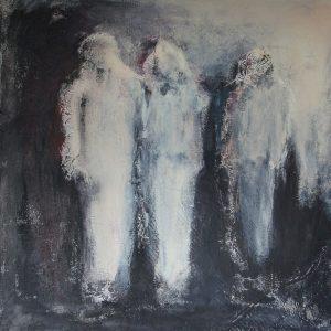 Ohne Titel (Acryl auf Leinwand, 90 x 90 cmm 2020)