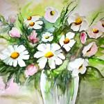 Blumenstrauß in Vase, Ines May alias Ines Schnierstein