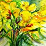 Gelber Blumenstrauß, Ines May alias Ines Schnierstein