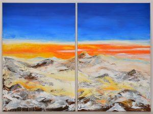 Landschaft abstrakt II, Ines May